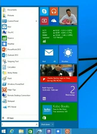 Die Rückkehr des Startmenüs verkündete Microsoft erstmals auf der Entwickler-Konferenz BUILD im April 2014.