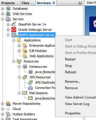 WildFly Integration in NetBeans