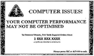 "Popup ""COMPUTER ISSUES!"""