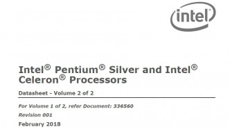 Intel Pentium Silver and Intel Celeron Processors Datasheet Volume 2