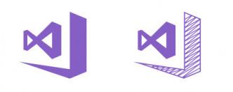 Links das Logo für Visual Studio RTM, rechts für die Preview-Version