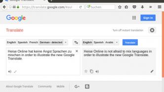 Google übersetzt mit einer KI in alle Sprachen