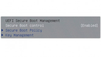 UEFI Secure Boot im BIOS-Setup
