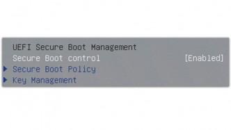 UEFI Secure Boot im BIOS-Setup