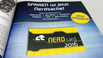 In eigener Sache: NerdCard 2016 in aktueller c't