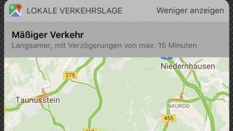 Google Maps Widget für Verkehr