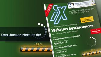 iX 1/2017: Websites beschleunigen, Cyber Threat Intelligence