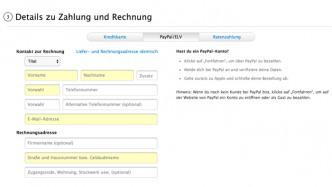Apple Online Store erlaubt keine Überweisungen mehr