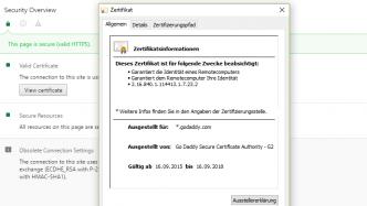 Einige SSL-/TLS-Zertifikate von GoDaddy wegen Software-Bug ungültig