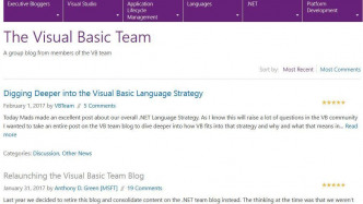 Microsoft reaktiert Visual Basic Team Blog