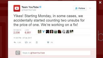 Rechenschwäche: YouTube-Kanäle verlieren mit jeder Abmeldung zwei Abonnenten