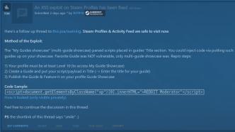 Valve schließt XSS-Schwachstelle in Spiele-Marktplatz Steam