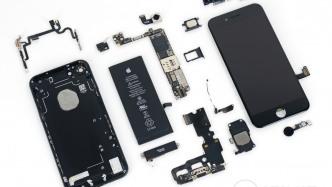 iPhone 7 in Einzelteilen