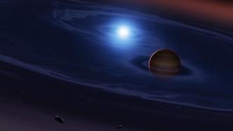 Gesteinsplaneten in Doppelsternsystem: Hinweise auf Asteroidentrümmer gefunden