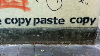 "Graffiti ""paste copy paste copy"""