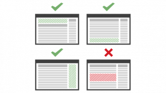 Grafik mit Beispielen für Werbeplatzierungen