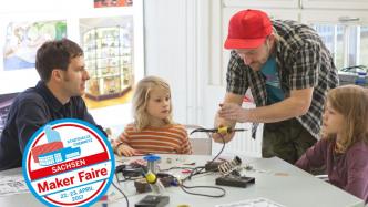 Lötworkshop Circuit Circle: Maker Faire Sachsen in der Stadthalle Chemnitz