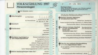 Vor 30 Jahren: Die letzte große Volkszählung