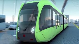 Autonome elektrische Straßenbahn ohne Schienen und Oberleitung