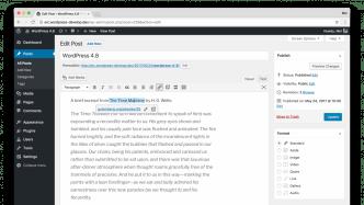 WordPress 4.8 Evans: Neue Medien-Widgets, bessere Link-Bearbeitung