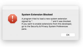 Kernel Extension blockiert
