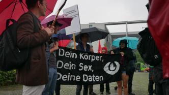 Bürgerrechtler demonstrieren gegen Vorratsdatenspeicherung