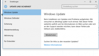 Windows 10: Update-Probleme nach August-Update