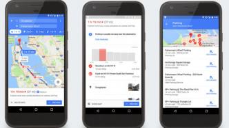 Google Maps informiert über Parkplatzsituation