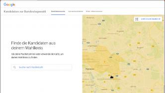 Google-Navigation nach Wahlkreisen