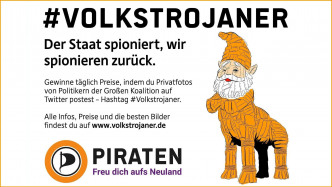 "Social-Media-Aktion ""#Volkstrojaner"""