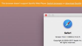 Spotify entfernt Unterstützung für Apple-Browser
