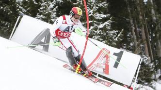 Skifahrer Marcel Hirscher bei einem Rennen