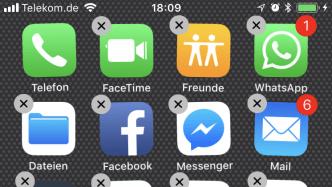 iOS 11 Apple-Apps löschen