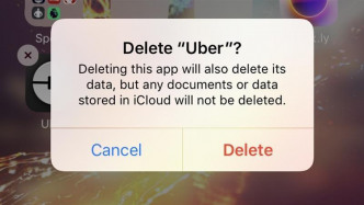 """Bestätigungsdialog """"Delete Uber?"""""""