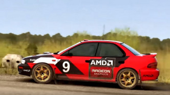 Auto mit AMD-Logo in Dirt Rally