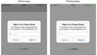 Passwort-Phishing in iOS: Apple hat ein Pop-up-Problem