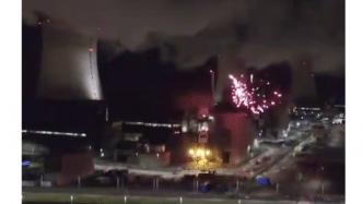Atomkraft: Greenpeace-Aktivisten zünden Feuerwerk auf AKW-Gelände Cattenom
