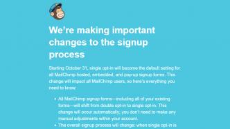 MailChimp wechselt auf Single-Opt-In – Seitenbetreibern drohen Abmahnungen