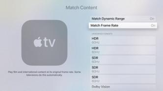 Apple TV 4K passt Bildwiederholrate und HDR-Ausgabe mit kommenden tvOS 11.2 automatisch an Inhalt an