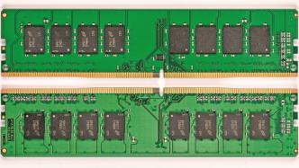 DDR4-SDRAM-DIMM: Vor- und Rückseite