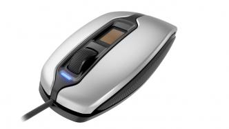 Cherry MC 4900: 3-Tasten-Maus mit Fingerabdruckssensor für Windows Hello