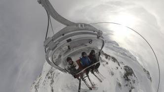 Skilift von oben