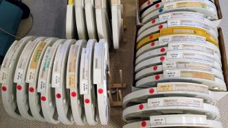 14-Zoll-Disketten mit Aufschriften