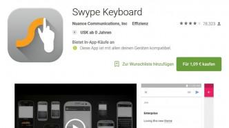 Swype: Entwicklung der alternativen Smartphone-Tastatur wird eingestellt