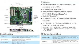 IBase MB995VF-C246 mit LGA1151-Fassung für Xeon E-2000