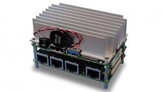 AAEON UP Core Plus mit Kühlkörper und Erweiterung UP Net Plus