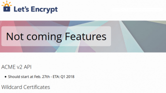 Let's Encrypt verschiebt Wildcard-Zertifikate