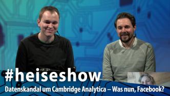 #heiseshow, live ab 12 Uhr: Datenskandal – Was machen wir nun mit Facebook?