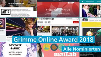 Das gute Netz: Die Nominierungen für den Grimme Online Award