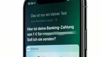Überweisung per Siri